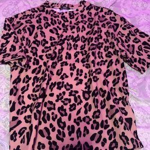 shein cheetah print never worn shirt